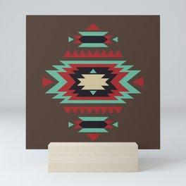 Geometric Tribal Indian Abstract Pattern Mini Art Print