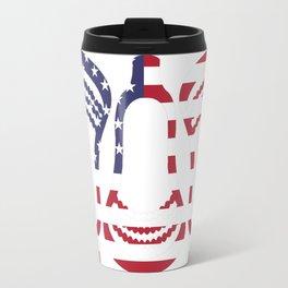 Lacrosse US Flag Head Trio Travel Mug