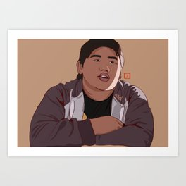 Guy In The Chair Art Print