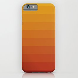 Gradient, Yellow Red iPhone Case