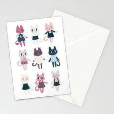 Adorable Fashion Kittens Stationery Cards