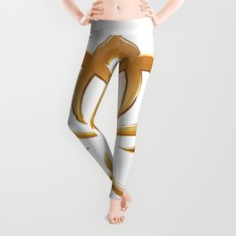 Golden Lotus Leggings