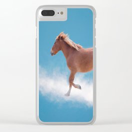 Walking on clouds over the blue sky - version #2 - #society6 #buyart Clear iPhone Case