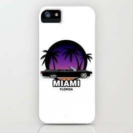 Miami muscle car iPhone Case