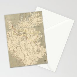 Vintage Map of Iceland (1819) Stationery Cards