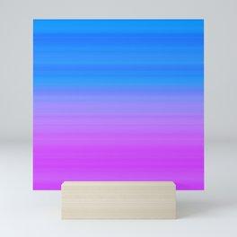 Blue Purple Gradient Stripes Mini Art Print