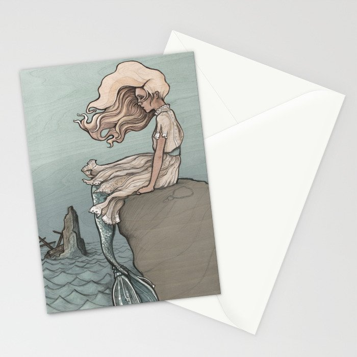 Evolution of a Mermaid Stationery Cards