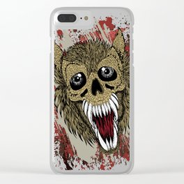 Scary Wolf Beast Clear iPhone Case