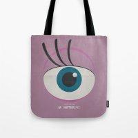 monster inc Tote Bags featuring Monster, Inc. - Pink (Vintage) by Lemontrend Studio