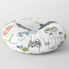 Travel Plans and Memos From For Munich Bavaria Floor Pillow