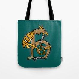 Celtic Medieval Griffin Letter H Tote Bag