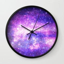 Purple Pastel Stars Wall Clock