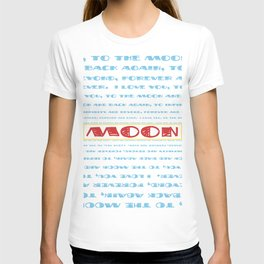 Retro Rocketship - Love you to the moon... - Typography T-shirt