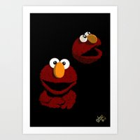 elmo Art Prints featuring Elmo Studio Portrait by Phil Jones