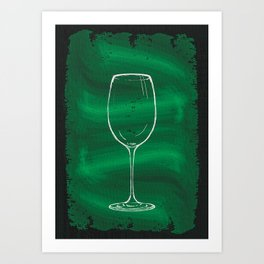 A Glass Of Wine Art Print