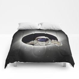 Black Hole Astronaut Comforters