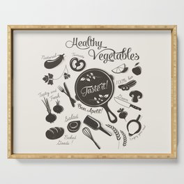 Health Vegetables Serving Tray