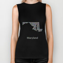 Maryland map Biker Tank