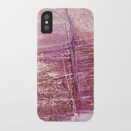 dusty pink abstract iPhone Case