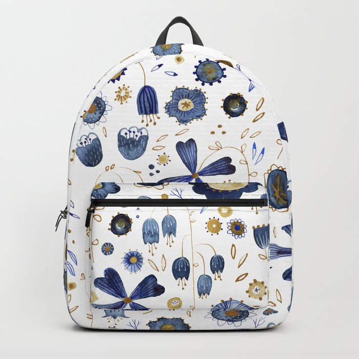 Indigo Flower Mashup Backpack