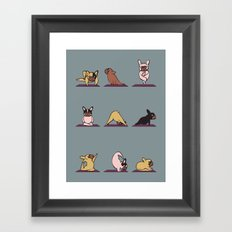Frenchie Yoga Framed Art Print