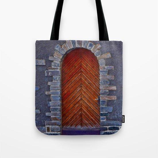Wood Door Tote Bag