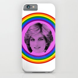 Lady Diana Gay Icon LGBT Pride season Royal Family iPhone Case