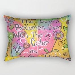 Color The Soul Rectangular Pillow