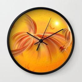 Fairies of the Sun Wall Clock