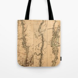 Map Of The Hudson River 1777 Tote Bag