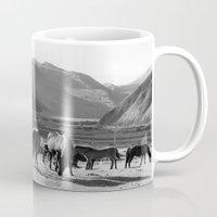horses Mugs featuring Horses by Avigur