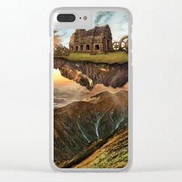Steampunk Getaway Landscape (Graphic Art) Clear iPhone Case