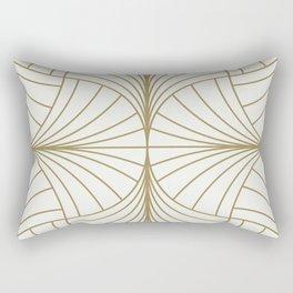 Diamond Series Inter Wave Gold on White Rectangular Pillow