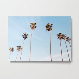 LA Palm Trees Metal Print
