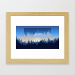 Winter Pines Reflected Framed Art Print