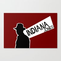 indiana jones Canvas Prints featuring Indiana Jones by Sabrina