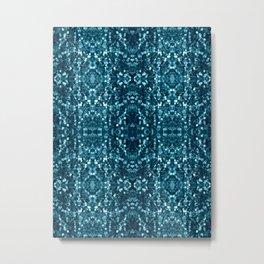 Ocean Macro Glitter Pattern Metal Print