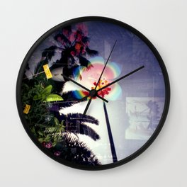 Urban double exposure Wall Clock