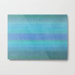 Woven Wonders Blue Metal Print