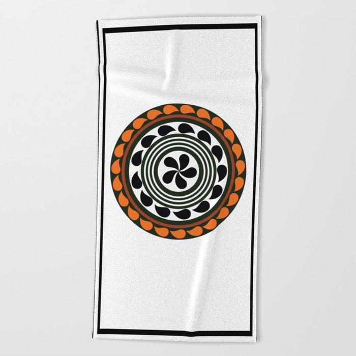 mandala 7 Beach Towel
