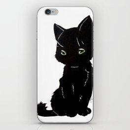 Black kitty iPhone Skin