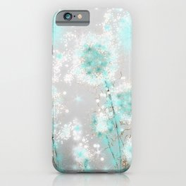 Dandelions in Turquoise iPhone Case