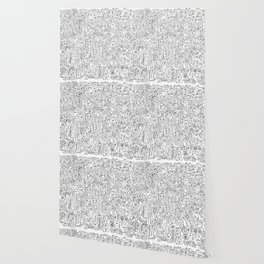 Graffiti Black and White Pattern Doodle Hand Designed Scan Wallpaper