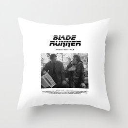 Blade Runner Behind the Scenes Movie Poster Throw Pillow