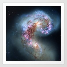 Interacting galaxies Art Print