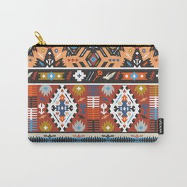 Fancy abstract geometric vector pattern in tribal style.cdr Carry-All Pouch
