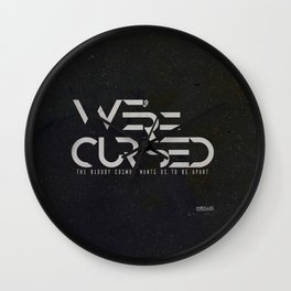 WE´RE CURSED v.2 Wall Clock