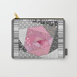 Needlework 1 . Patchwork. Roses. Carry-All Pouch