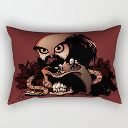 The Dead Cowboy, The Rattlesnake and The Owl Rectangular Pillow