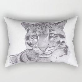 Clouded Leopard - Big Cat Rectangular Pillow